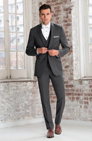 Steel Grey Sterling Wedding Suit by Michael Kors